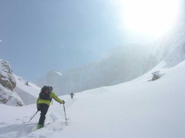 Backcountry skiing in Turkey